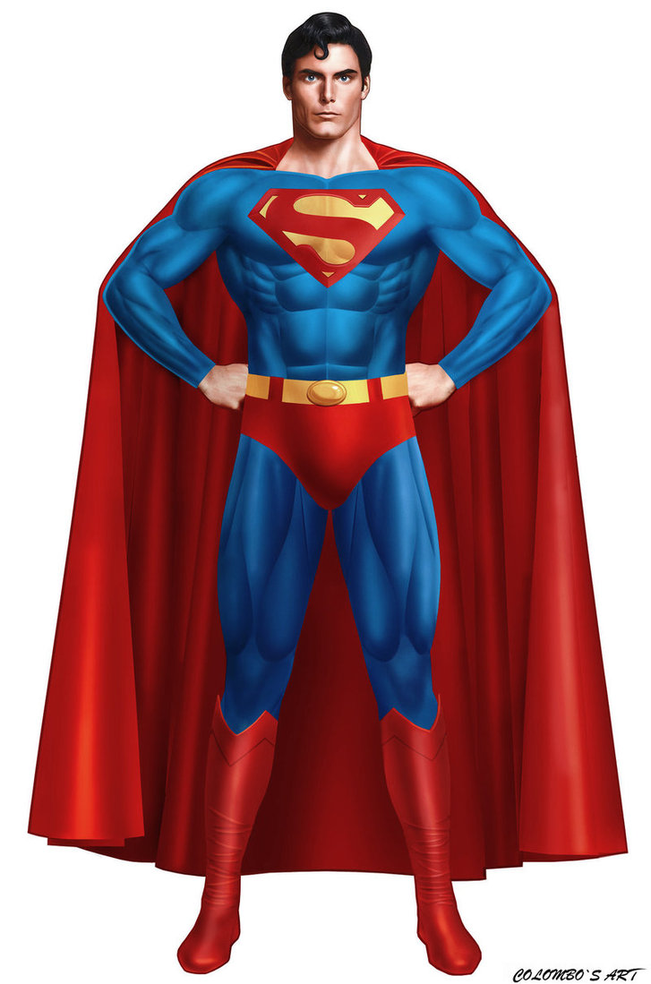 Superman or SuperChris? Powerposing before it was cool.